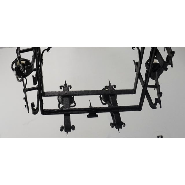 Henry III Style Hand Wrought Iron Chandelier For Sale In San Francisco - Image 6 of 10