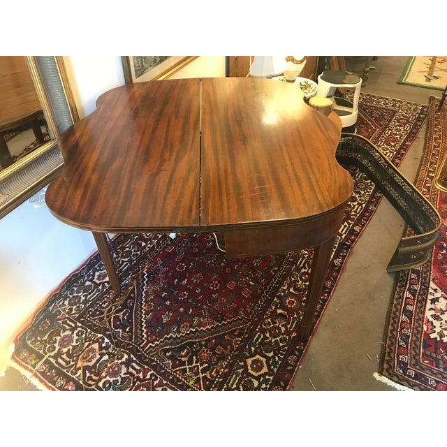 Brown Mahogany Bridge Table With Scalloped Drop Down/Flip Top For Sale - Image 8 of 8