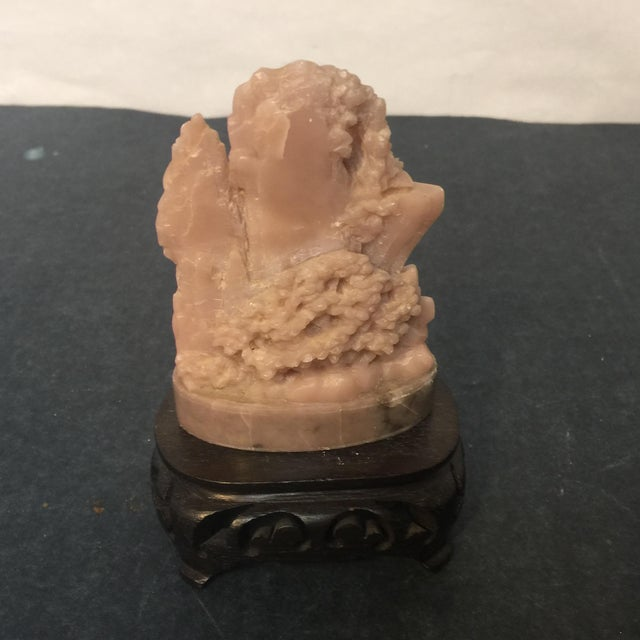 Asian Carved Soapstone Chinese Mountainscape For Sale - Image 3 of 7