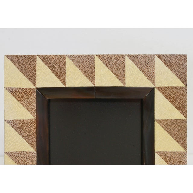 Asian Shagreen and Horn Photo Frame by Fabio Ltd For Sale - Image 3 of 7