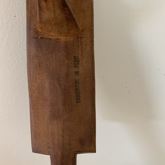Late 20th Century Hand Carved Peruvian Wooden Spoon For Sale - Image 5 of 6