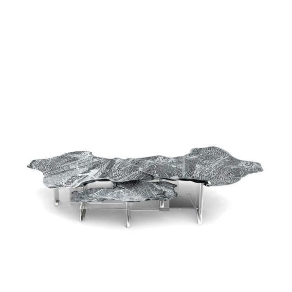Contemporary Monet Silver Center Table From Covet Paris For Sale - Image 3 of 3