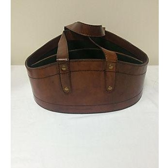 Rustic Leather Wine Tote - Image 2 of 4