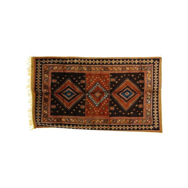 "Boho Chic Taznakht Moroccan Rug, 5'1"" X 8'9"" Feet For Sale - Image 3 of 6"