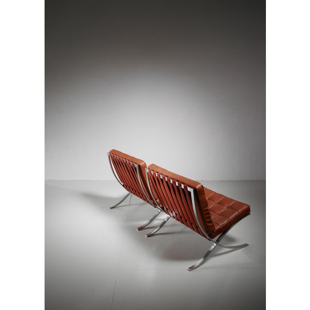 Knoll Pair original Barcelona chairs, 1st Knoll edition, 1950s For Sale - Image 4 of 8