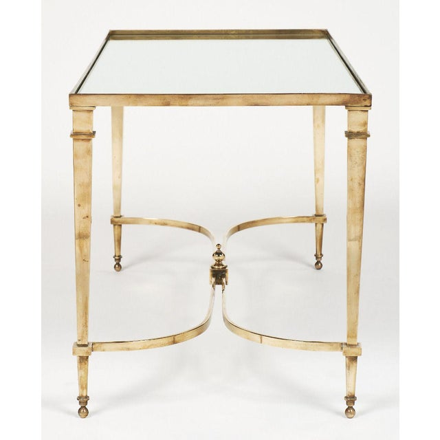 Art Deco Brass and Mirror Coffee Table For Sale - Image 10 of 11