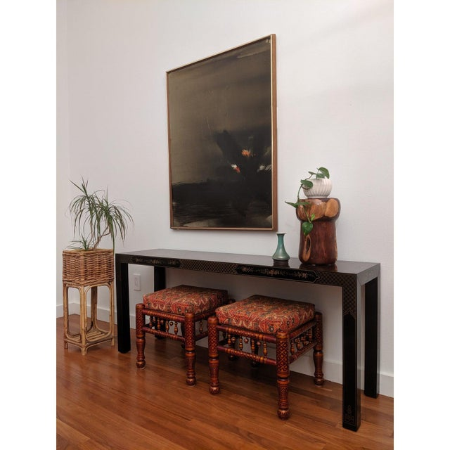 1980s Chinoiserie Console Table & Side Tables, Set of 3 (Drexel - Et Cetera Collection) For Sale - Image 10 of 13