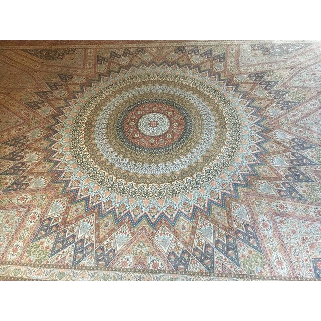 Finely Knotted Silk Qom Carpet - 7′10″ × 11′4″ - Image 8 of 8