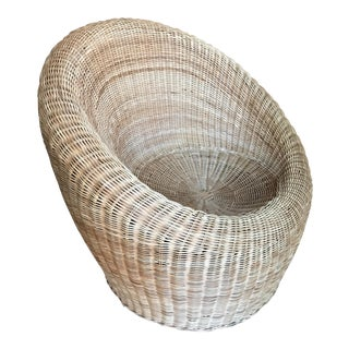 Eernio Aarnio Style Vintage Wicker Chair