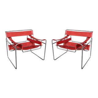 Wassily, Pair of Armchairs by Marcel Breuer, Italy, 1970