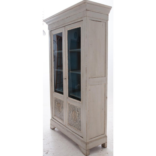 Italian Early 20th Century Painted Bibliotheque For Sale - Image 9 of 10