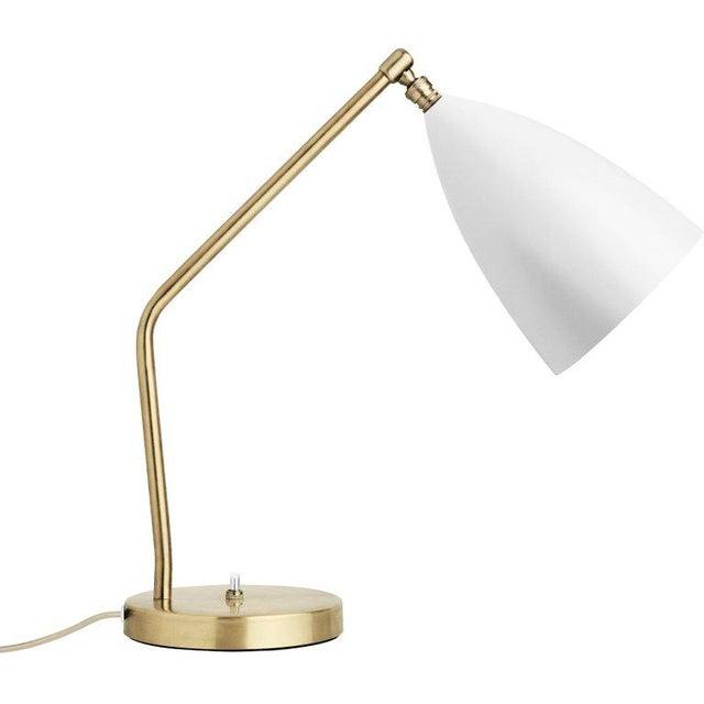 White Greta Magnusson Grossman 'Grasshopper' Table Lamp in Light Gray For Sale - Image 8 of 11