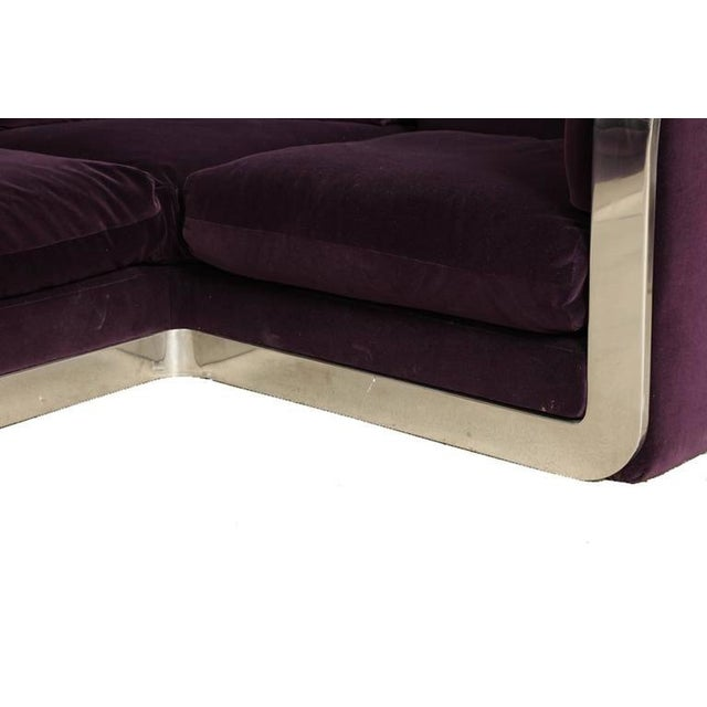 Purple Corner Sofa by Maxform, circa 1960s For Sale - Image 8 of 10