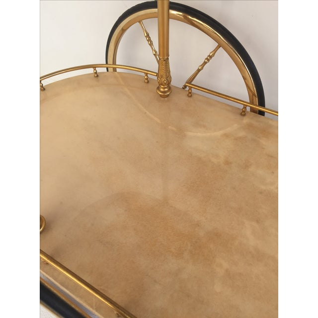 Aldo Tura Parchment Bar Cart Drinks Trolley For Sale - Image 7 of 11