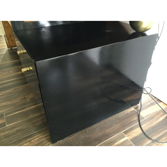Italian Burl Wood Desk For Sale - Image 4 of 11