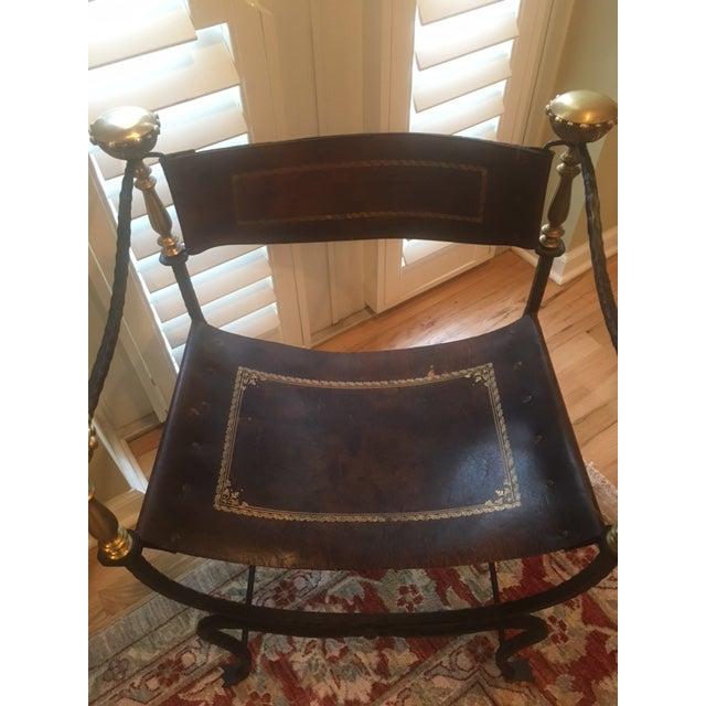 Antique Italian Savonarola Chair - Image 3 of 8