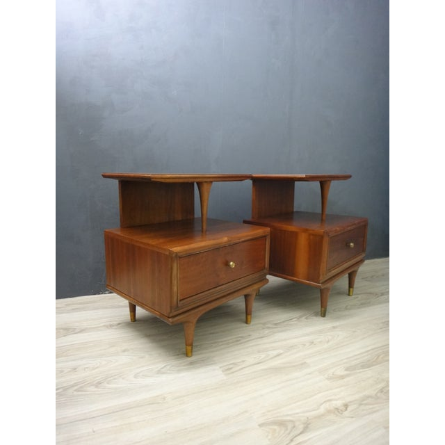 Kent Coffey Continental Bedside Tables - Pair - Image 3 of 6