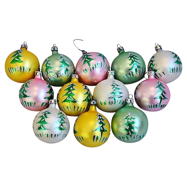 fancy christmas ornaments wbox set of 12 for sale