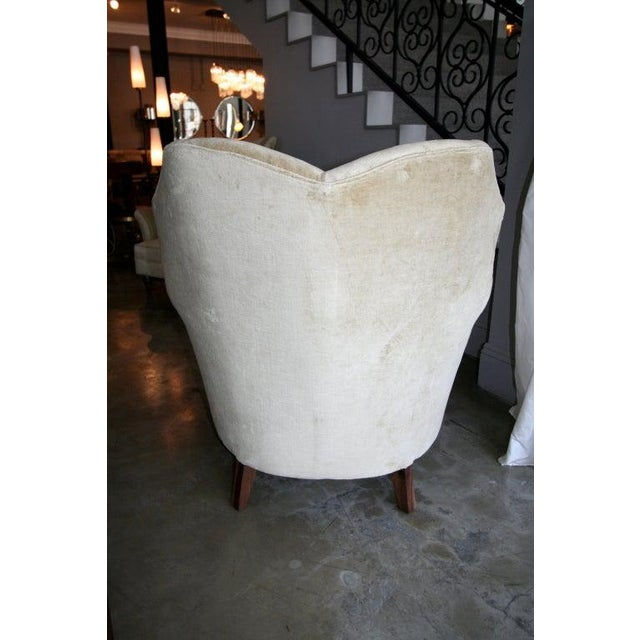 1950s 1950's Arturo Pani Beige Velvet Upholstered Lounge Chairs - a Pair For Sale - Image 5 of 8