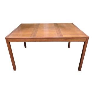 Mid Century Danish Modern Walnut Parsons Table For Sale