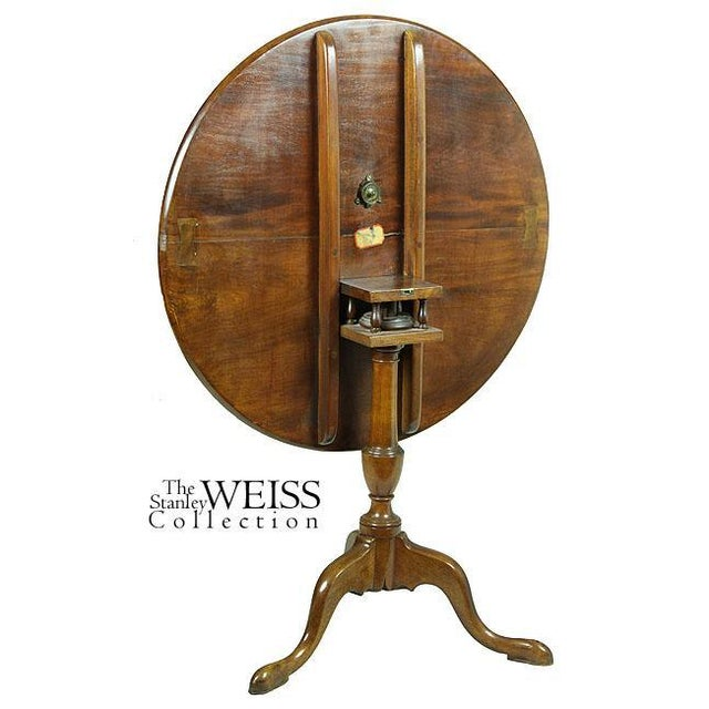 Queen Anne Mahogany Tilt-Top Table With Dishtop, Birdcage, & Urn - Image 3 of 6