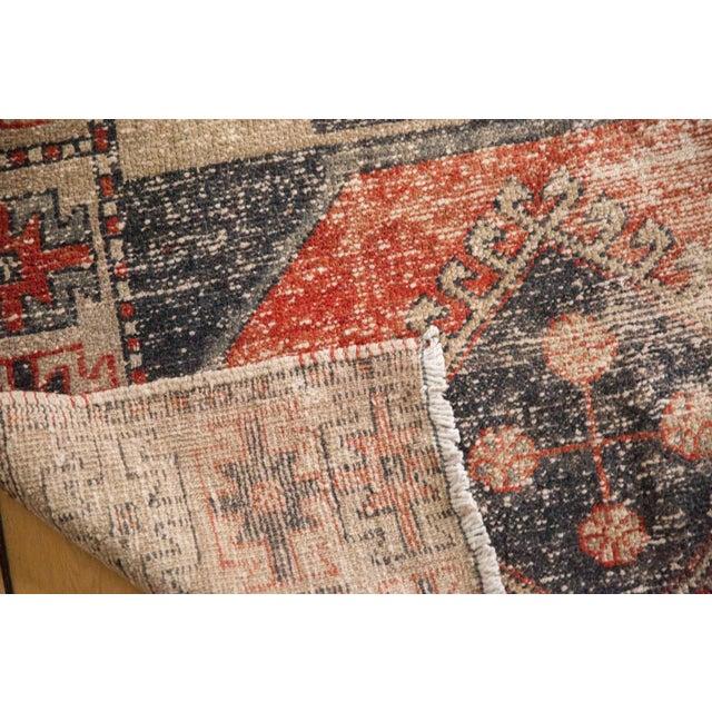 "Textile Vintage Distressed Oushak Rug Runner - 3'8"" X 10'3"" For Sale - Image 7 of 12"