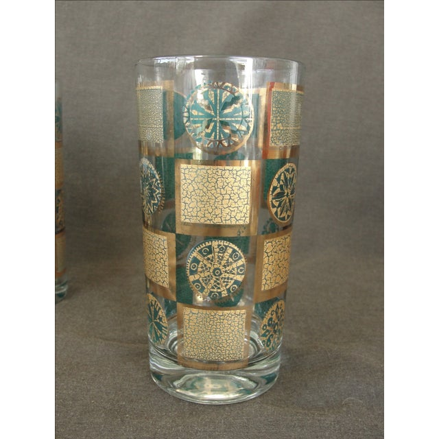 Mid-Century Tumblers With Rack - Set of 9 - Image 5 of 10