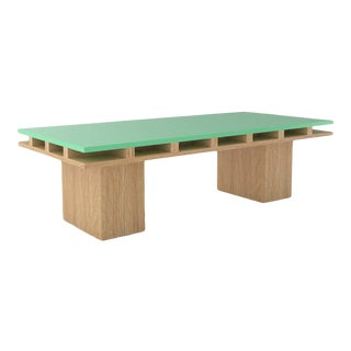 Contemporary 101C Coffee Table in Oak and Mint by Orphan Work, 2020 For Sale