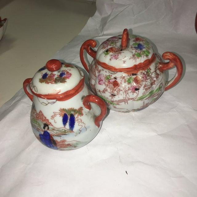 Japanese Porcelain Tea Set - Set of 22 - Image 8 of 10