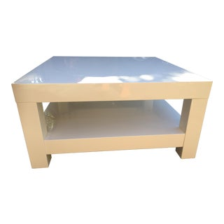 Contemporary West Elm White Coffee Table For Sale