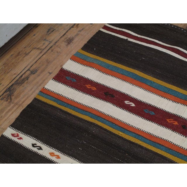 Islamic Banded Kilim For Sale - Image 3 of 6