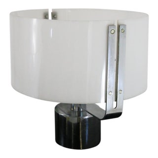 70s Table Lamp in Plexiglass and Chrome Steel For Sale