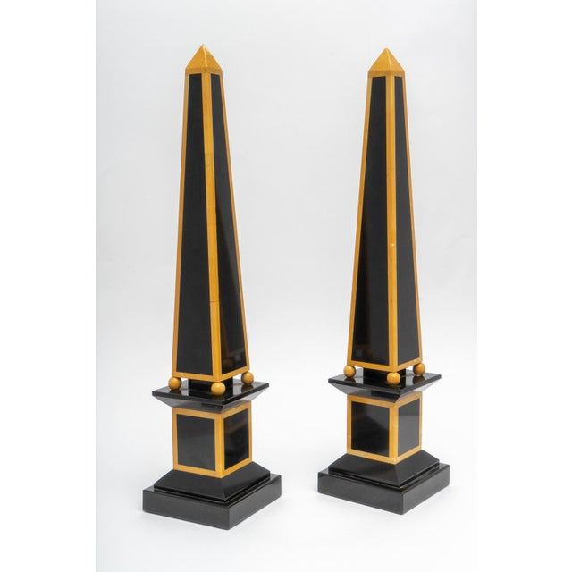 This stylish set of Egyptian Revival marble obelisks date to the 1920s and were acquired from a Palm Beach estate. The...