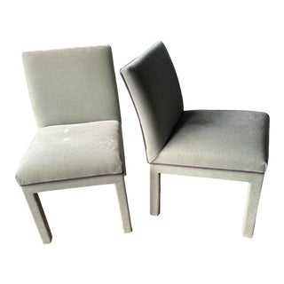 Late 20th Century Barbara Barry Style Chairs - a Pair For Sale