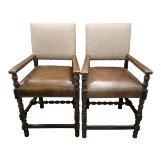 Transitional Hooker Comfort Counter Stools - a Pair For Sale
