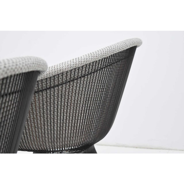 White Pair of 1960s Bronze Warren Platner Lounge Chairs For Sale - Image 8 of 12