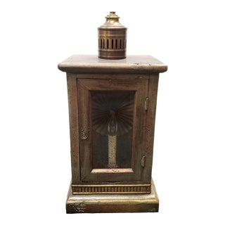 Vintage Circa 1970 Frederick Cooper Lantern-Style Electric Table Lamp Made in Chicago For Sale