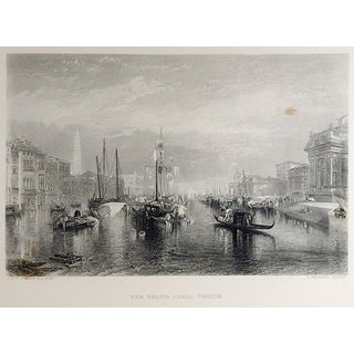 Antique Engraving the Grand Canal, Venice For Sale