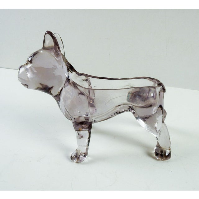 French Bull Dog Figural Glass Dish - Image 2 of 6