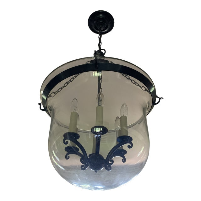 e.f. Chapman Visual Comfort Country Bell Jar Pendant For Sale