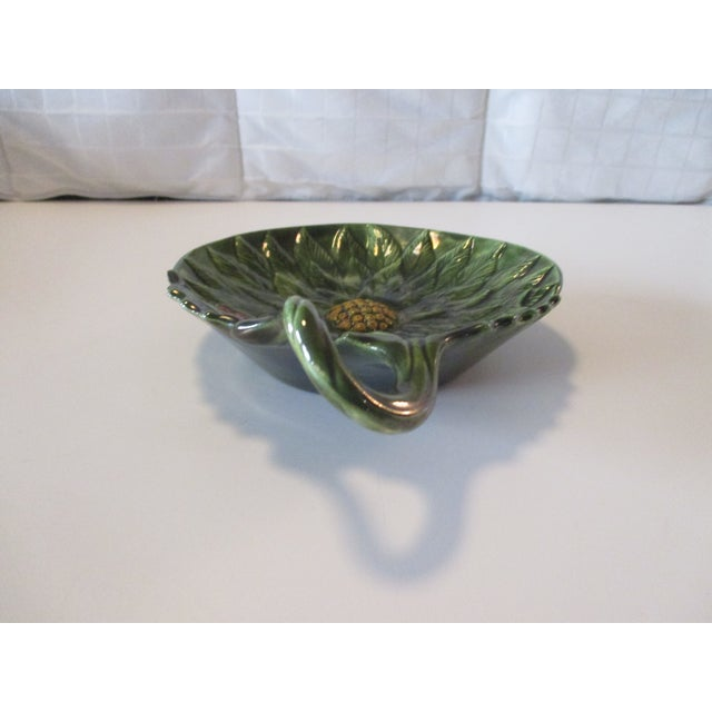 Vintage Decorative Holy Candy Green Dish For Sale - Image 4 of 5