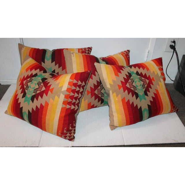 Textile Amazing Flying Geese and Striped Pendleton Pillows For Sale - Image 7 of 8