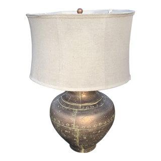 Copper Pot Table Lamp For Sale