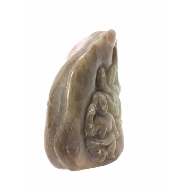 20th Century Carved Jade Boulder of Chinese Immortals For Sale In San Francisco - Image 6 of 10