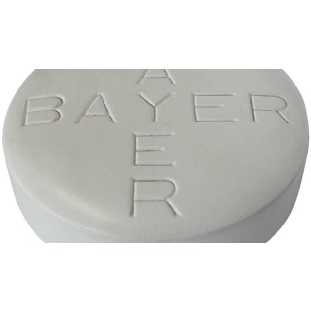 1950s over sized Bayer pill advertising sign.