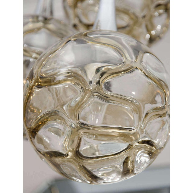 1960s 1960s German Globe Glass Fixture For Sale - Image 5 of 6