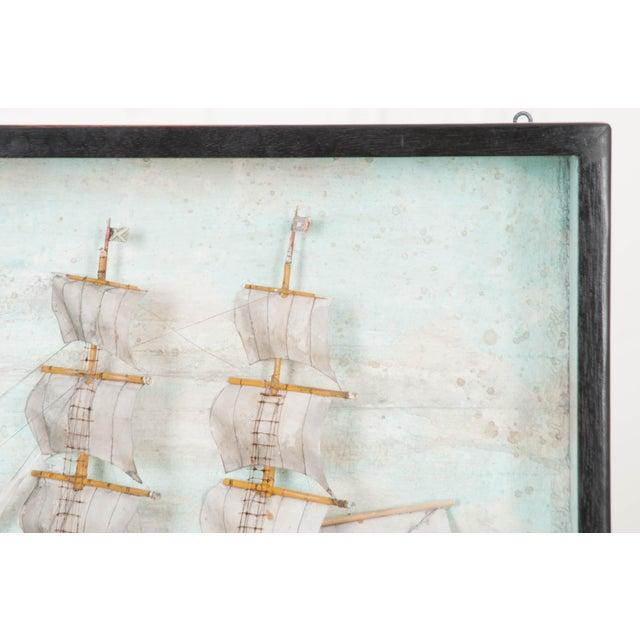 Nautical 19th Century English Nautical Diorama For Sale - Image 3 of 7
