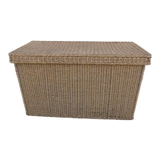 Vintage Natural Hand Woven Seagrass Trunk/Coffee Table
