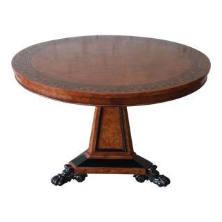 Baker Furniture Stately Homes Collection Burl Ash Regency Center Table