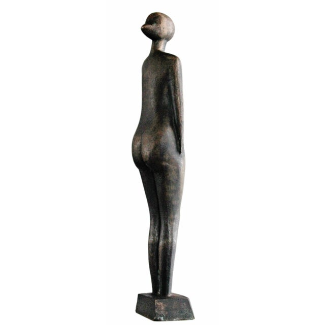 Mid-Century Abstract Bronze Sculpture - Image 5 of 6